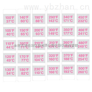 TSDC-9000-16不可逆的温度记录条