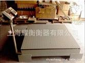 山東青島1.0*1.0M 1-3T可移動電子地磅秤、帶立桿電子小地磅