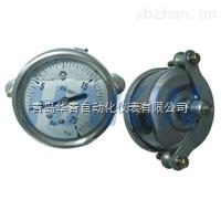 華青軸向帶支架不銹鋼壓力表
