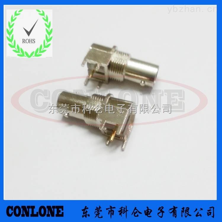 印刷电路板弯式90·度pcb穿孔安装高清bnc插座 bnc视频接头