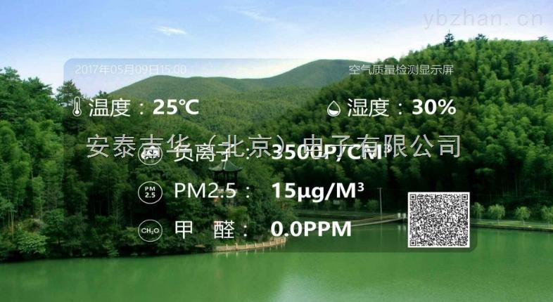 洗浴中心空气质量负离子PM2.5实时检测LED电视屏