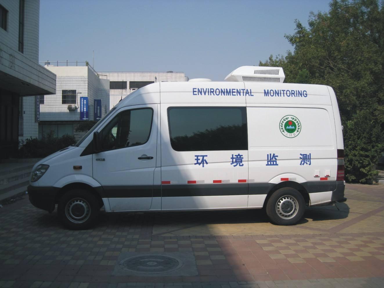 浙江临海首辆移动环境监测车在头门港新区投入使用