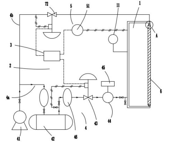 高压空气送气装置主要由空气压缩机,气体储罐构成,通过过滤式减压阀图片