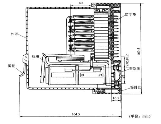 无极加强接点继电器 加强接点继电器是为通断功率较大的信号电路而设计的。 无极加强接点继电器有JWJXC一480型、缓放的JWJXC一H125/0.44和JWJXC一H125/0.13型等品种。 JWJXC一480型继电器,其磁系统具有加大尺寸的无极磁路,接点系统由两组普通接点和两组加强接点组成,表示为2QH和2QHJ。普通接点与无极继电器相同,加强接点则具有特殊设计的大功率接点和磁吹弧器。 JWJXC一H125/0.