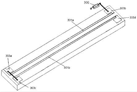 图为本发明实施例磁传感器芯片的结构示意图